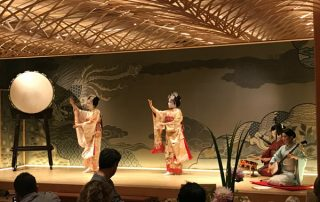 Geisha performers at Happoen Garden in Tokyo Japan