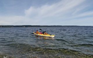 Kayaking from Whidbey Island to Camano Island
