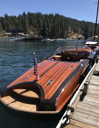 Lake Coeur d'Alene wooden boat show Idaho