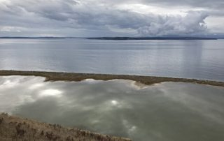 Perego's Lagoon on Ebey's Landing National Historical Reserve bluff loop trail of Whidbey Island