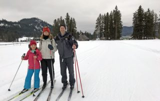 Cross-country skiing on Plain Valley Nordic Ski Trails