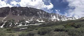 Grays Peak National Recreation Trail in Arapaho National Forest Colorado mountains trail view