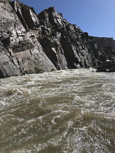 Skull rapids in Westwater Canyon on Colorado River Utah