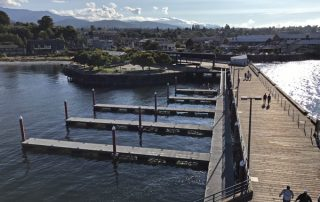View from Port Angeles City Pier lookout tower